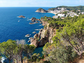 Panorama an der Costa Brava