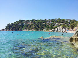 Bucht Cala de Canyellas in Lloret de Mar an der Costa Brava
